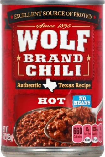 Food 4 Less Wolf Brand Chili Hot No Beans Chili 15 Oz
