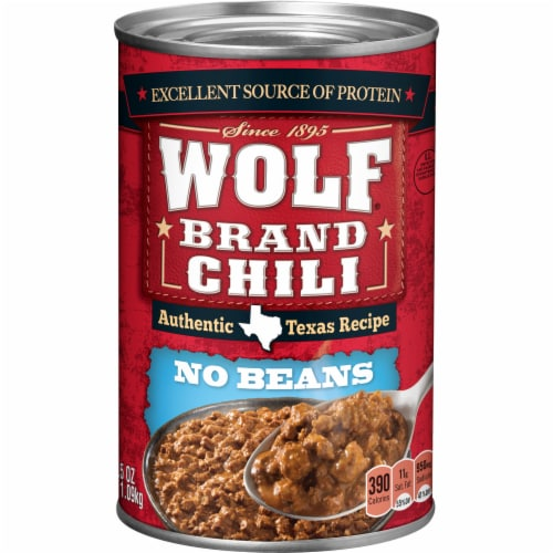 Wolf Brand No Bean Chili Perspective: front
