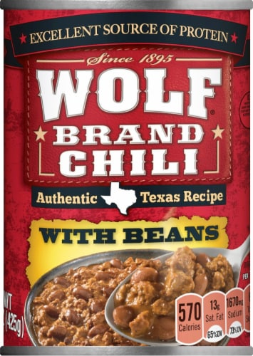 Wolf Brand Chili with Beans Perspective: front