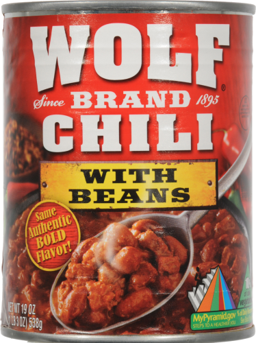 Foods Co Wolf Brand Mild Chili With Beans 19 Oz