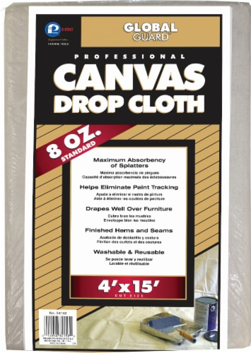Premier® Global Guard Professional Canvas Drop Cloth - Beige Perspective: front