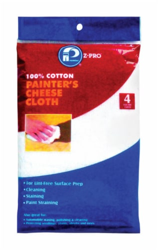 Premier  Z-Pro  Cotton  Cheese Cloth  144 in. W x 144 in. L 1 pk - Case Of: 1; Each Pack Qty: Perspective: front