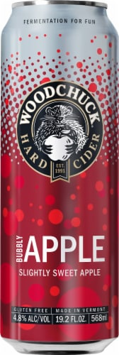 Woodchuck Bubbly Apple Hard Cider Perspective: front