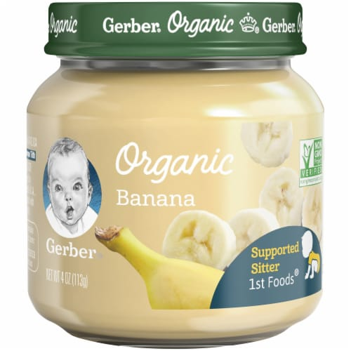 Gerber Organic 1st Foods Banana Baby Food Perspective: front