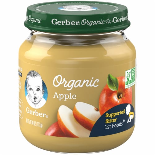 Gerber Organic 1st Foods Apple Baby Food Perspective: front