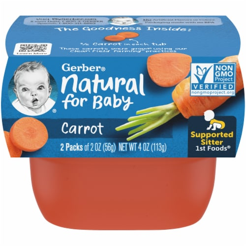 Gerber 1st Foods Carrot Baby Food Perspective: front