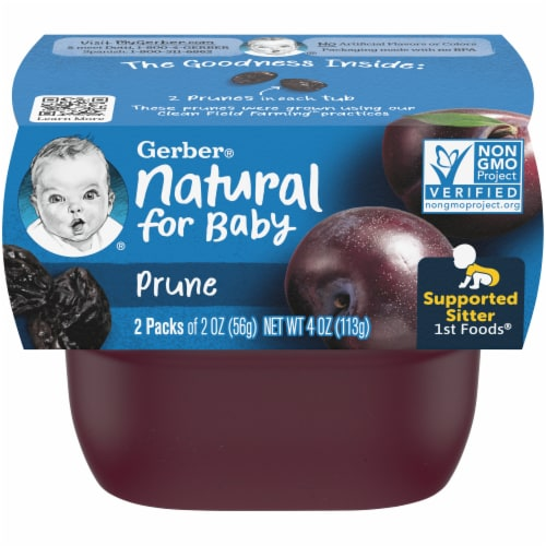 Gerber 1st Foods Prune Baby Food 2 Count Perspective: front