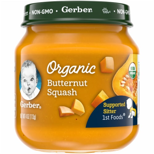 Gerber 1st Foods Organic Butternut Squash Baby Food Perspective: front
