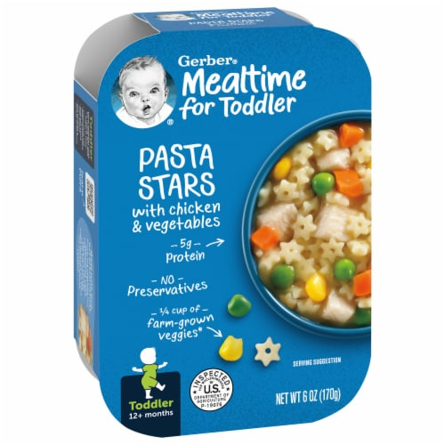 Gerber Toddler Pasta Stars with Chicken & Vegetables Meal Perspective: front