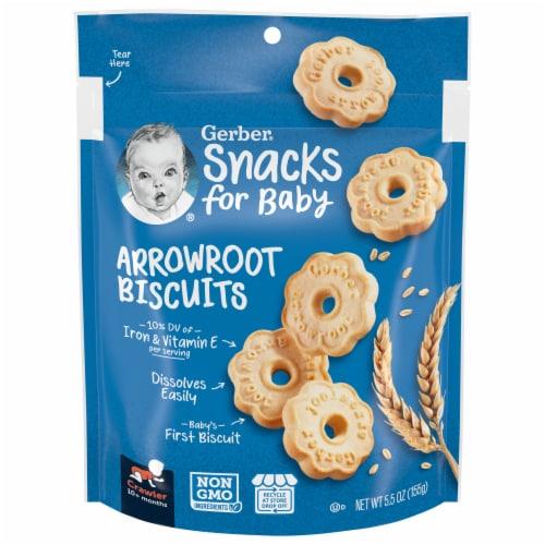 Gerber Crawler Arrowroot Biscuits Perspective: front
