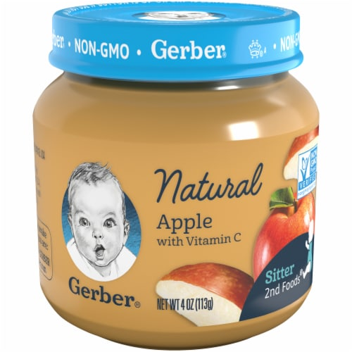 Gerber 1st Foods Natural Apple Baby Food Perspective: front