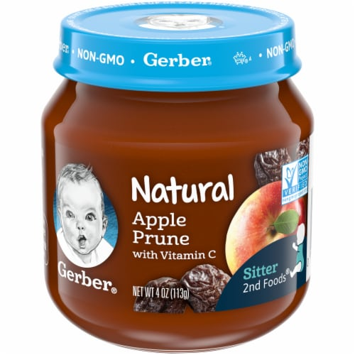 Gerber 2nd Foods Natural Apple Prune with Vitamin C Stage 2 Baby Food Perspective: front