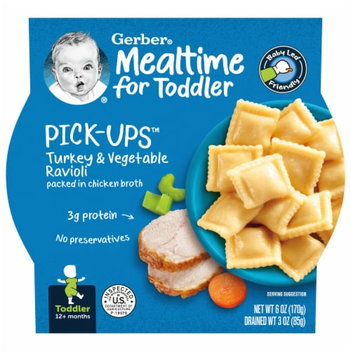 Gerber Pick-ups Turkey & Vegetable Ravioli Toddler Meal Perspective: front