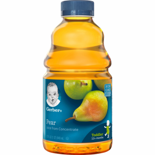Gerber Toddler Pear Juice from Concentrate Perspective: front