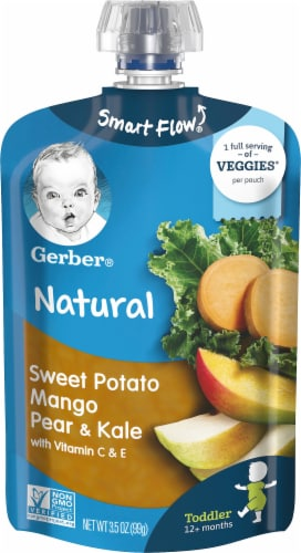 Gerber Strong Sweet Potato Mango Pear Kale Toddler Baby Food Perspective: front