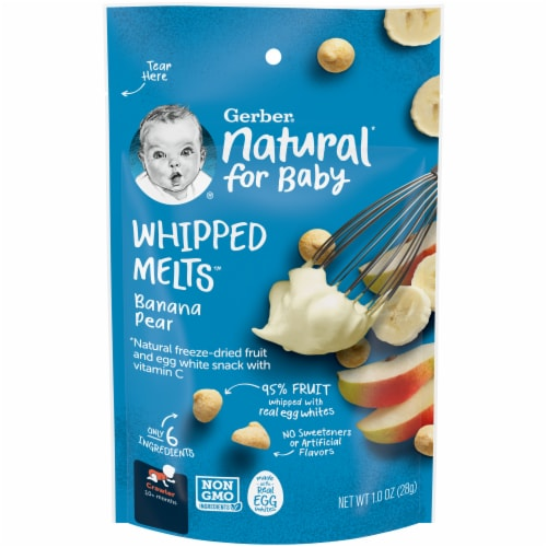 Gerber Natural for Baby Banana Pear Natural Whipped Melts Perspective: front
