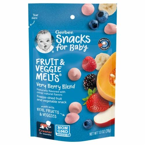 Gerber® Fruit & Veggie Melts® Very Berry Snack Perspective: front