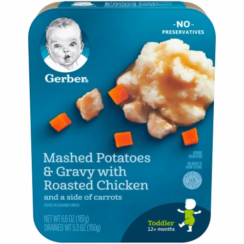 Gerber Mashed Potatoes & Gravy with Roasted Chicken Toddler Lil' Entree Perspective: front