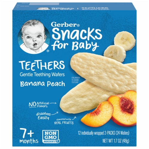 Gerber Banana Peach Teethers Wafers Perspective: front