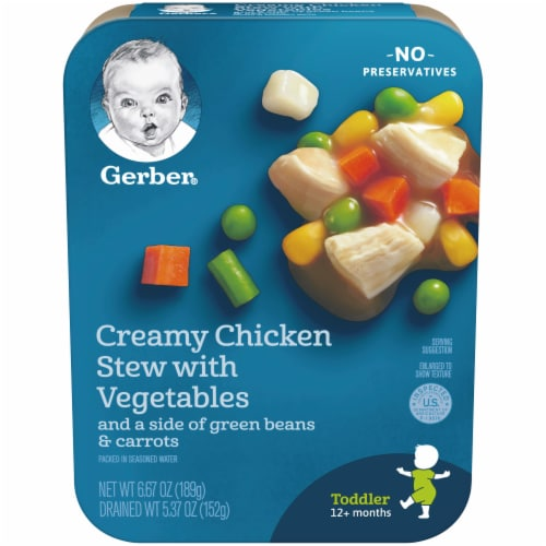 Gerber Creamy Chicken Stew with Vegetables Toddler Meal Perspective: front