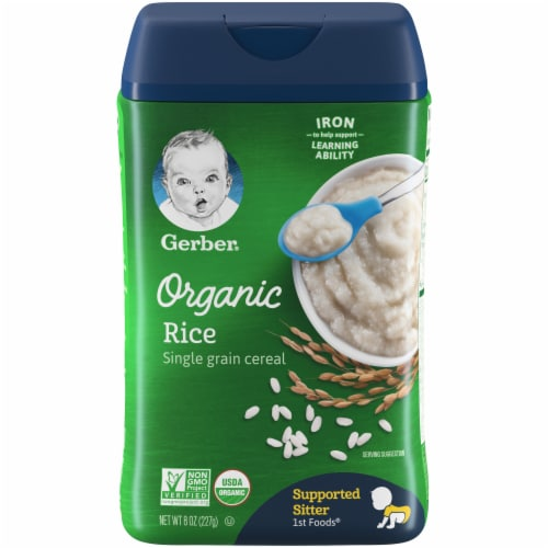Gerber Organic Rice Cereal Perspective: front