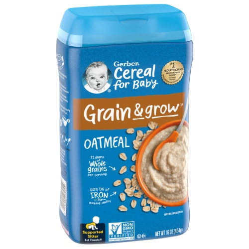Gerber 1st Foods Oatmeal Single-Grain Cereal Perspective: front