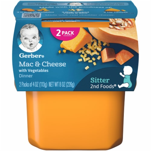 Gerber 2nd Foods Mac & Cheese with Vegetables Dinner Baby Food Perspective: front