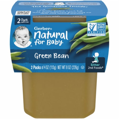 Gerber 2nd Foods Green Beans Baby Food 2 Count Perspective: front