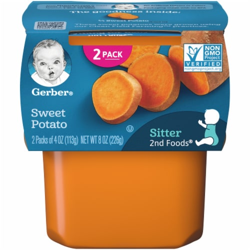 Gerber 2nd Foods Sweet Potato Stage 2 Baby Food Perspective: front