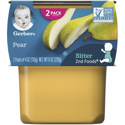 Gerber 2nd Foods Pear Baby Food Perspective: front