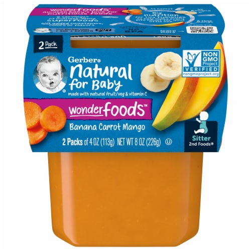 Gerber 2nd Foods Banana Carrot & Mango Baby Food Perspective: front