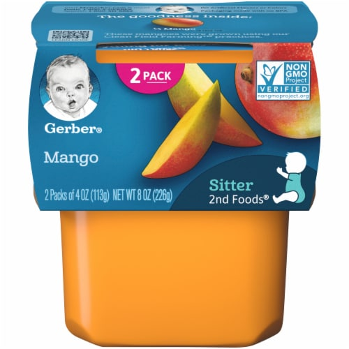Gerber 2nd Foods Mango Baby Food Perspective: front
