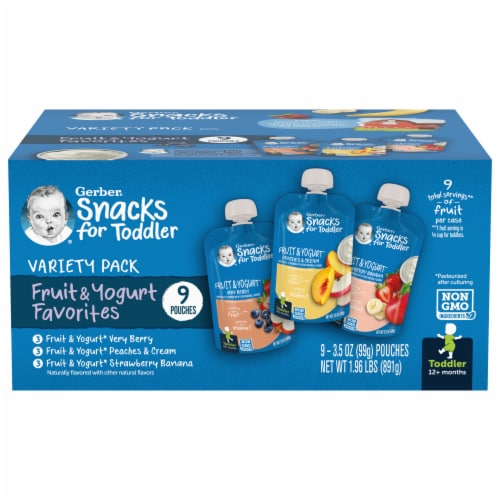Gerber Toddler Variety Pack Baby Food Perspective: front