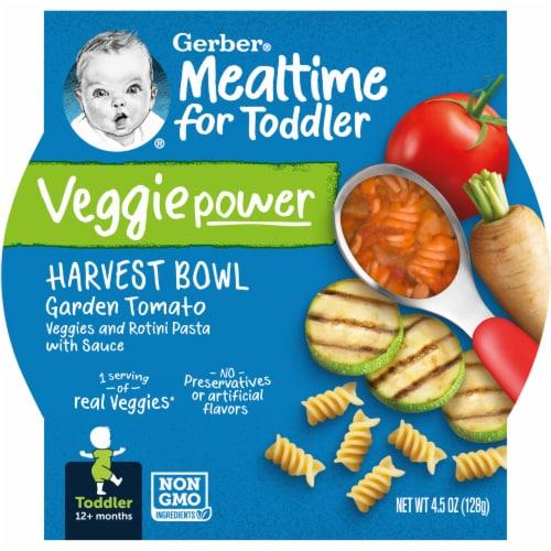 Gerber Mealtime Harvest Bowl Garden Tomato Toddler Food Perspective: front