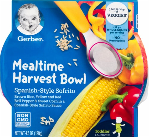 Gerber Spanish-Style Sofrito Mealtime Harvest Bowl Toddler Food Perspective: front