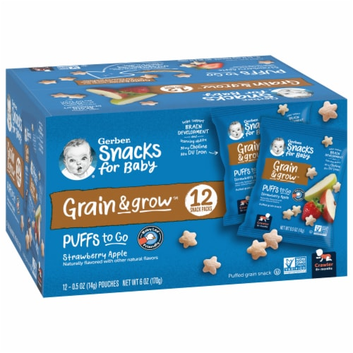 Gerber Puffs to Go Crawler Strawberry Apple Perspective: front