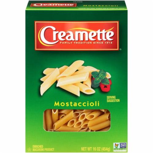 Creamette Mostaccioli Pasta Perspective: front