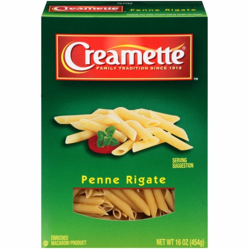 Creamette Penne Rigate Pasta Perspective: front