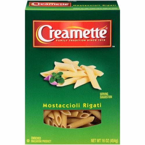 Creamette Mostaccioli Rigati Pasta Perspective: front