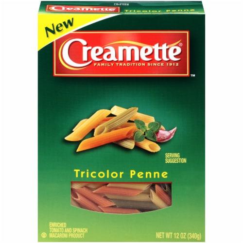 Creamette Tricolor Penne Pasta Perspective: front