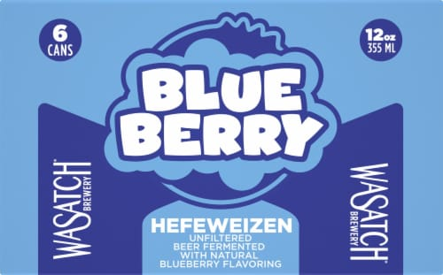 WaSatch Brewery Blue Berry Hefeweizen Perspective: front