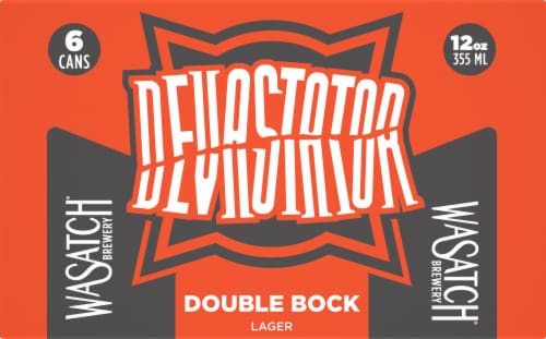 WaSatch Brewery Devastator Double Bock Lager Perspective: front