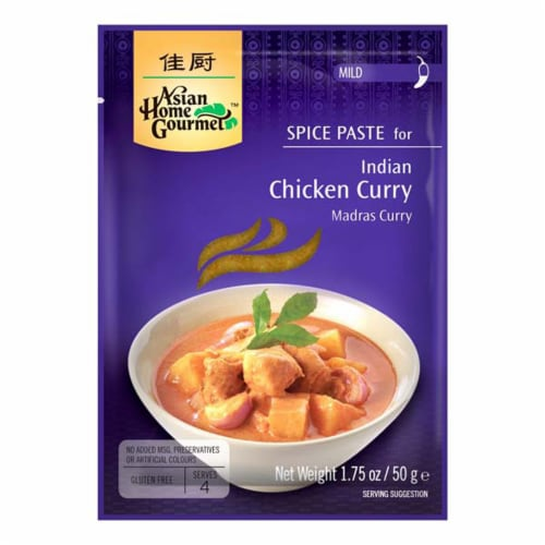 Asian Home Gourmet Indian Mild Chicken Curry Spice Paste Perspective: front