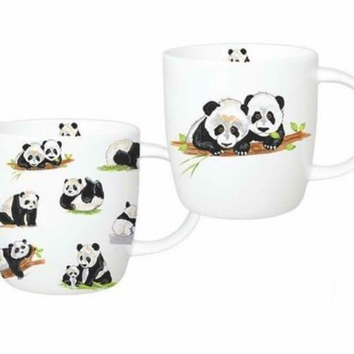 Roy Kirkham ER21142 Panda Sophie Mugs, Multi Color - Set of 6 Perspective: front