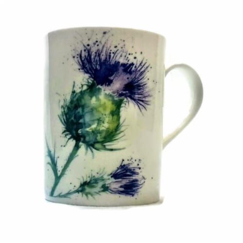 Roy Kirkham ER21143 75 mm Thistles Lucy Mugs, Multi Color - Set of 6 Perspective: front