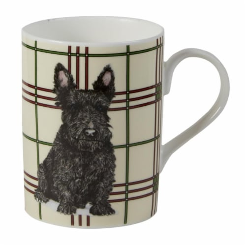 Roy Kirkham ER21114-S Scottie Dog Lucy Mugs, Multi Color - Set of 6 Perspective: front