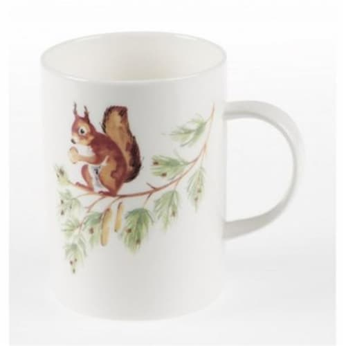 Roy Kirkham ER2184-S Squirrel Lucy Mugs, Multi Color - Set of 6 Perspective: front