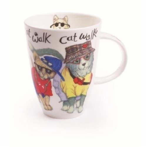 Roy Kirkham ER2327 90 mm Animal Fashion Cat Walk Louise Mugs - Set of 6 Perspective: front