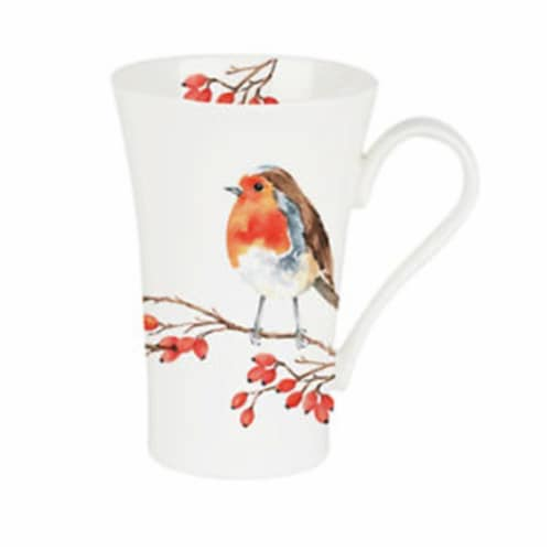 Roy Kirkham ER2470R 600 ml Robin Multi Latte Mugs, Multi Color - Set of 6 Perspective: front