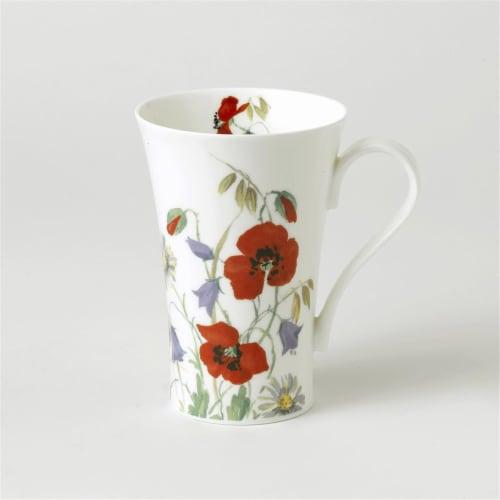 Roy Kirkham ER2408 600 ml English Meadow Multi Latte Mugs, Multi Color - Set of 6 Perspective: front